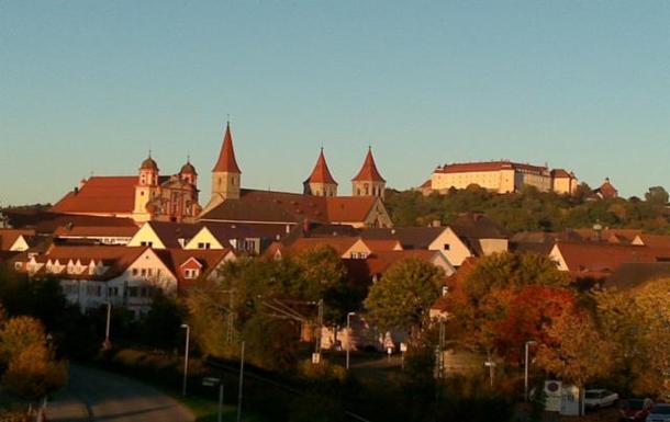 The skyline from Ellwangen, city of churches