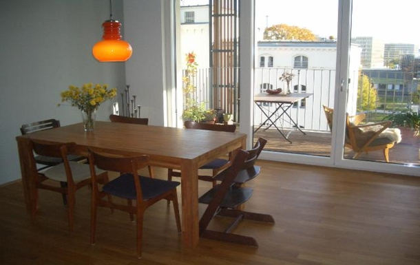 our dining table and access to balcony
