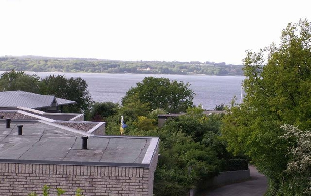 View from the balcony to the coast of Denmark