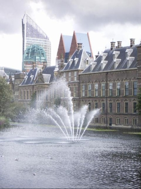 The Hague's Hofvijver and Houses of Parliament