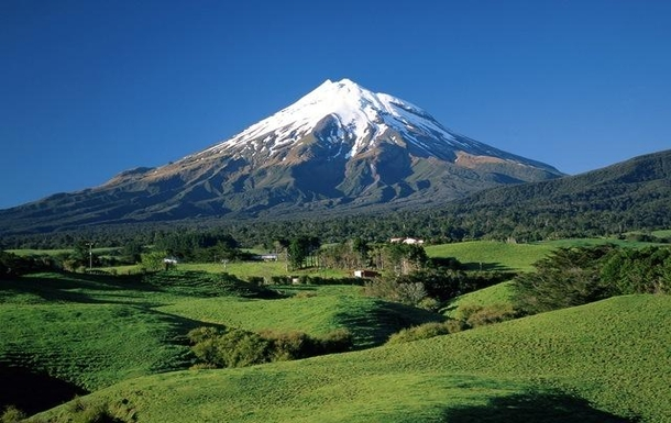 Mount Taranaki (not viewed from our house)