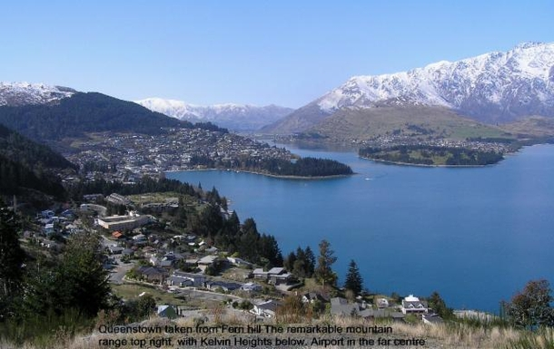 Queenstown from Fern Hill Queenstown airport in th