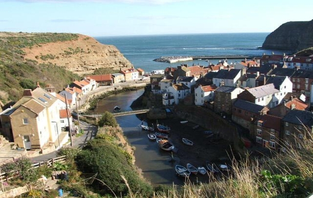 The pretty village of Staithes.