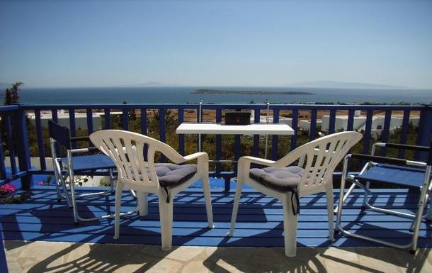 BoligBytte til,Greece,Paros, Greece.  Tsanes,Master bed room balcony
