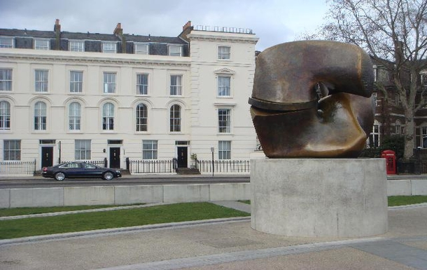 Henry Moore sculpture outside