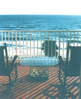 Porch overlooking the beach