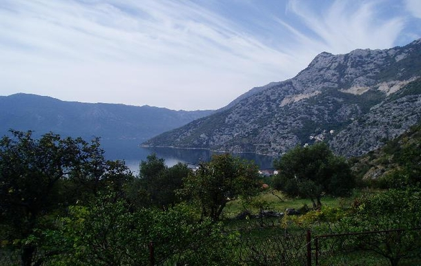 BoligBytte til,Montenegro,Risan,South/west View from the lower gardens