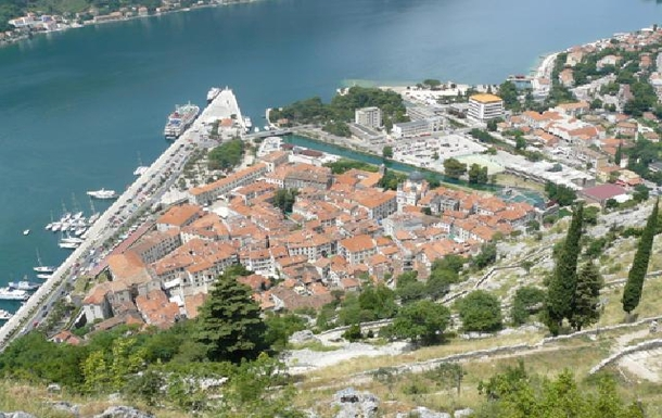 BoligBytte til,Montenegro,Risan,An ariel view of Kotor, the city and harbour