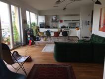 Home exchange in/Germany/Berlin/Open kitchen/living room