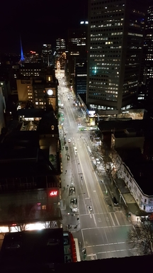 Elizabeth Street from the appartment balcony