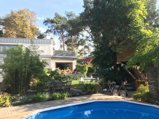 House from Garden with Pool
