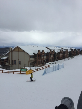 View of our condo from Ski Lift (third doorway)