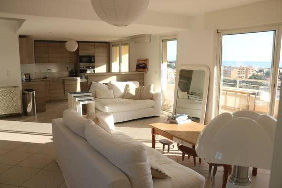 Home exchange in France,Ile Rousse, Corsica,3 bedroom apartment, large terrace w sea view,Home Exchange & House Swap Listing Image