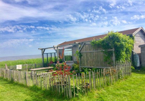 our wadden cabin with garden