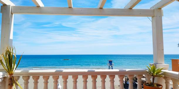 Boligbytte i  Spania,La Cala del Moral, Málaga,Beachfront house with huge seafront terrace,Home Exchange & House Swap Listing Image