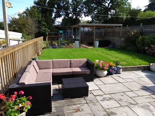 We have a huge garden to relax in