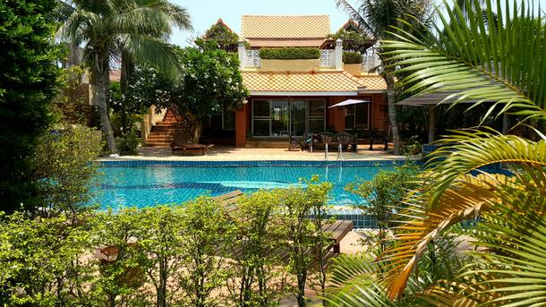 Koduvahetuse riik Tai,Pak Nam Pran, Prachuapkhirikan,House with pool on the Thai Riviera,Home Exchange Listing Image