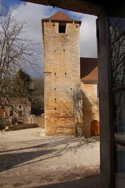 From inside, a view of the Romanesque church