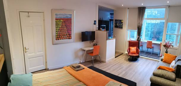 Home exchange country Hollanda,Amsterdam, Nederland,Cosy small, luxurious apartment fully equiped,Home Exchange Listing Image