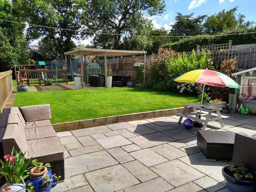 A lovely big garden to relax and play in.