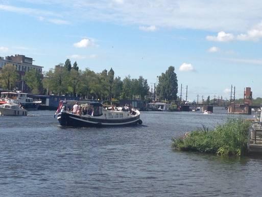 Échange de maison en Pays-Bas,Amsterdam, Noord Holland,Houseboat on Amstel river,Echange de maison, photos du bien