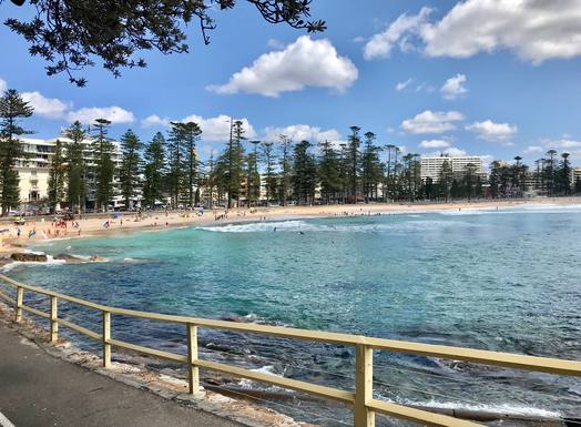 Manly Beach, Marine Parade walkway.