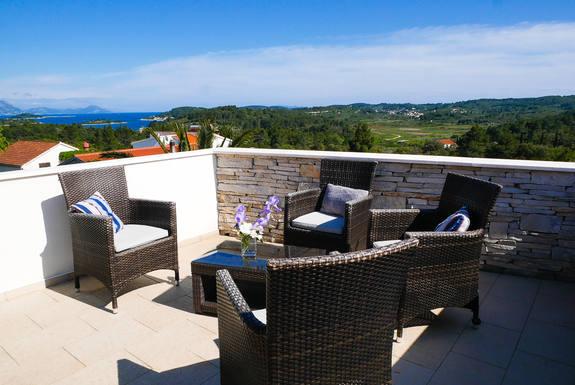 Huizenruil in  Kroatië,Korcula, Dubrovnik-Neretva,Grüne Insel im Mittelmeer -  Korcula/Kroatien,Huizenruil foto advertentie