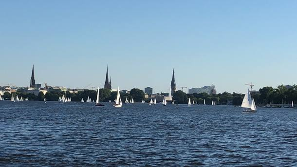 Nearby Alster Lake