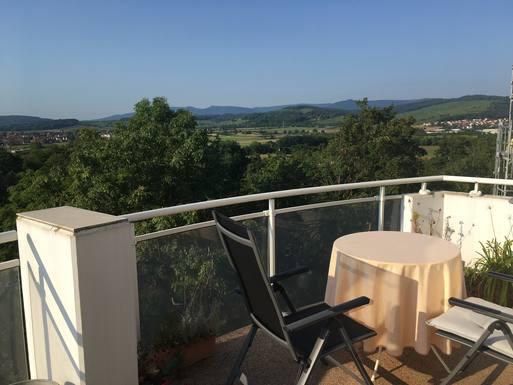 Vue sur le Mont saint Odile depuis le balcon