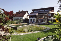 Home exchange in Autriche,Enns, Oberösterreich,Spacious house and big naturepool,Echange de maison, photo du bien
