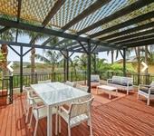 Outdoor deck with hinterland views