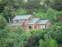 Set in native bush overlooking Lake Taupo
