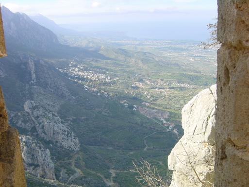 Home exchange in,Cyprus,Karaman,Karaman village from St Hilarion Castle