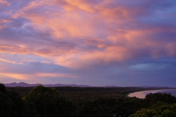 Home exchange in,Australia,VALLA BEACH,Evening from the top deck