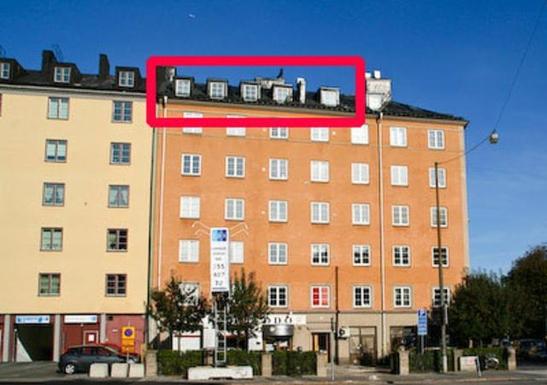 BoligBytte til,Sweden,Stockholm, 0k, N,Our loft marked with red