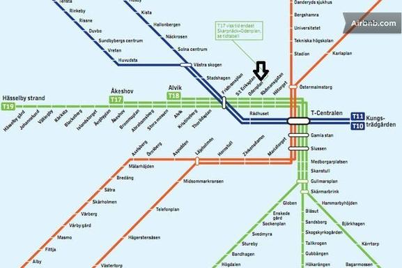 BoligBytte til,Sweden,Stockholm, 0k, N,Underground station - you access our loft 7-8 min