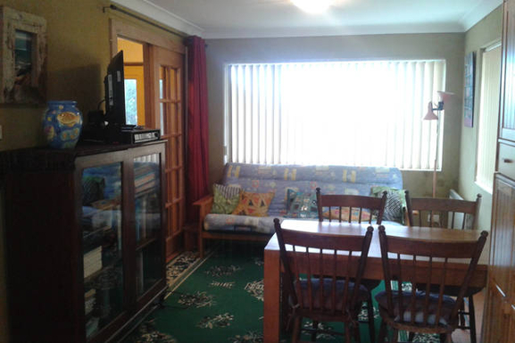 Home exchange in,Australia,ULLADULLA,Downstairs living area with TV & DVD player