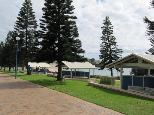 Home exchange in,Australia,South Coogee,Picnic shelters at Coogee Beach.