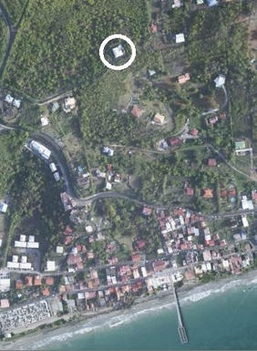 BoligBytte til,Martinique,Diamant, 1km, N,From Google Earth