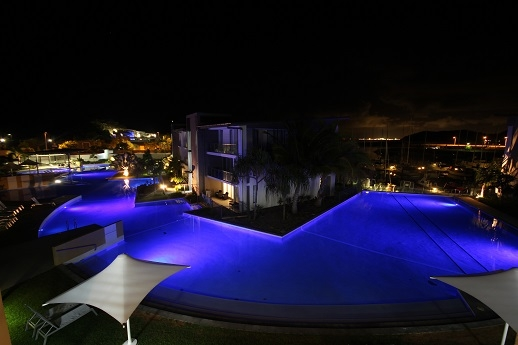 Home exchange in,Australia,NELLY BAY,Pool by night
