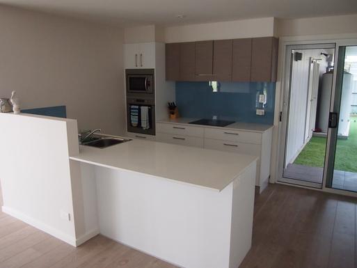Home exchange in,Australia,STOCKTON,Modern kitchen.  Oven and fridge not shown