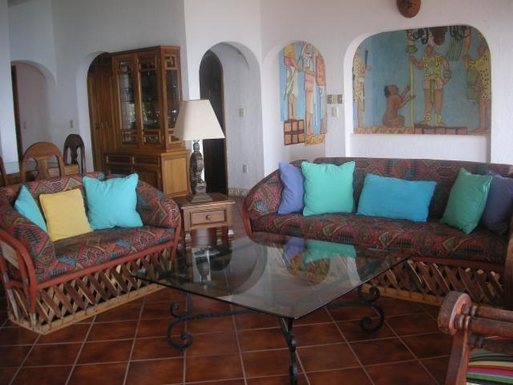BoligBytte til,Mexico,Manzanillo,Living Room of Casa Maya