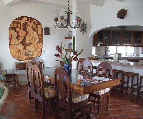 BoligBytte til,Mexico,Manzanillo,Dining Area and Kitchen in Casa Maya