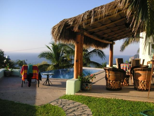 BoligBytte til,Mexico,Manzanillo,Patio and Pool area
