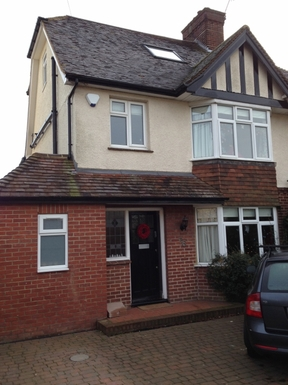 Our semi-detached 1930's family home