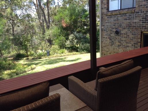Home exchange in,Australia,WOOLGOOLGA,Back yard with view of creek
