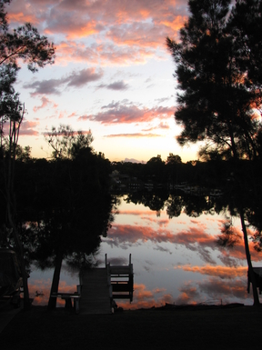 Home exchange in,Australia,SUSSEX INLET,Sunset from the deck