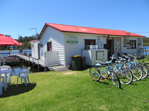 Home exchange in,Australia,SUSSEX INLET,Sussex Inlet Boatshed for Boat and cycle hire