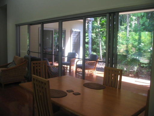 Home exchange in,Australia,CAIRNS,View from dining/lounge room to front garden