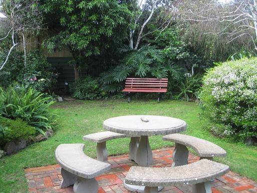 Home exchange in,Australia,CARRICKALINGA,The restful back garden at Carrickalinga